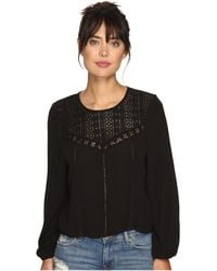 Amuse Society - Sunset Rose Woven Top - Lyst