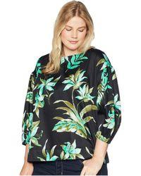 Lauren by Ralph Lauren - Plus Size Print Bishop-sleeve Top - Lyst