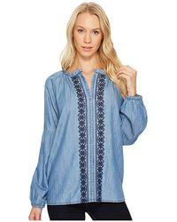 1943ba1d Jag Jeans - Casper Shirt In Cotton Chambray (light Indigo Wash) Clothing -  Lyst