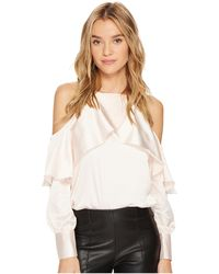 Bishop + Young - Mia Cold Shoulder Blouse - Lyst