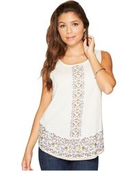 Lucky Brand - Embroidered Tank Top - Lyst