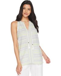 251f246f018 Two By Vince Camuto - Yarn-dyed Stripe Gauze Halter Blouse W  Tassel -