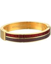Michael Kors - Color Crush Baguette Cut Crystal Hinge Bracelet - Lyst