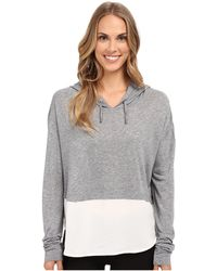 The Beginning Of - Cashmere Modal Emma Blocked Hoodie - Lyst