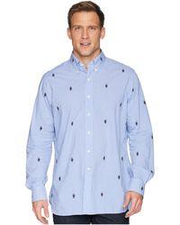 242f769d2d2f50 Recently sold out. Polo Ralph Lauren - Embroidered Bear Gingham Poplin  Sport Shirt - Lyst