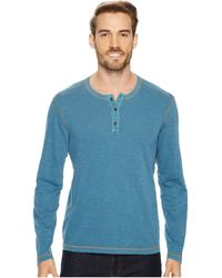 Agave | Pintail Long Sleeve Henley Slub Jersey | Lyst
