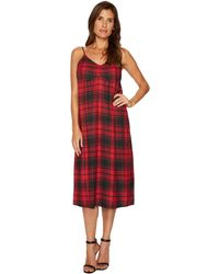 Two By Vince Camuto - Stateside Plaid Maxi Dress - Lyst