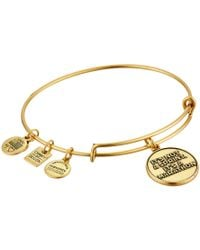 72ce698ca6d8a Lyst - Alex And Ani Whats For You Will Not Pass You Charm Bangle ...