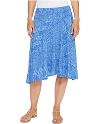 Mod-o-doc - Patchwork Burnout Jersey Swing Skirt With Lining - Lyst