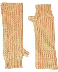 Marni - Zip Detailed Wool English Rib Fingerless Mitten - Lyst