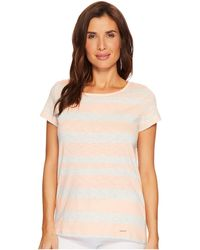 U.S. POLO ASSN.   Mixed Stripe Tie Back T-shirt   Lyst