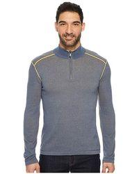ECŌTHS - Noah Zip Neck Sweater (vintage Indigo) Long Sleeve Pullover - Lyst