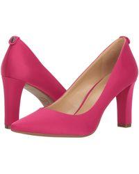 dc8fcb2549448 Lyst - Michael Michael Kors Abbi Flex Satin Mid-heel Pump in Pink