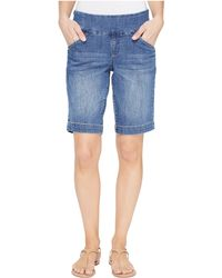 Jag Jeans - Ainsley Pull-on Bermuda Comfort Denim In Weathered Blue - Lyst