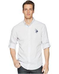 U.S. POLO ASSN. - Long Sleeve Classic Fit Striped Shirt - Lyst