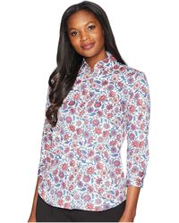 Chaps - No-iron Floral Cotton Shirt - Lyst