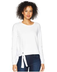 Mod-o-doc - Cotton Modal Spandex French Terry Drop Shoulder Sweatshirt With Tie - Lyst
