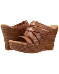 b6d2d952ac0 UGG Ugg 'char' Ankle Strap Wedge Sandal in Metallic - Lyst