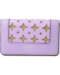 Lodis - Laguna Perf Rfid Mini Card Case - Lyst