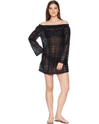Kenneth Cole - To The Beat Off The Shoulder Elastic Bell Sleeve Dress Cover-up - Lyst
