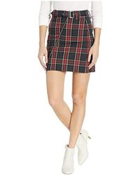 80e077b6a8 Bebe - Plaid Asymmetrical Mini Skirt (stark Plaid) Skirt - Lyst