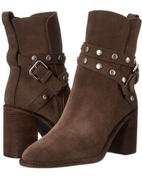 Suede Wrap Heel Bootie with Studs See by Chloe 8joThFy