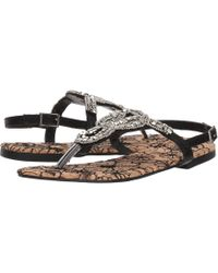 55eb65c1c5e728 Lyst - Michael Michael Kors Daniella Braided Leather Flat Sandal in ...