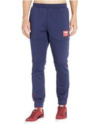 99fde919fde1 Lyst - PUMA Rebel Block Pants Trousers in Blue for Men