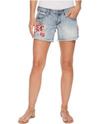 Stetson - Jean Shorts With Embroidery - Lyst