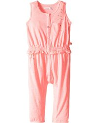 IKKS - Jersey Jumpsuit With Metallic Polka Dots & Button Up Front Snaps Up (infant) - Lyst