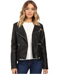 Brigitte Bailey - Lowri Faux Leather Jacket With Fringe - Lyst
