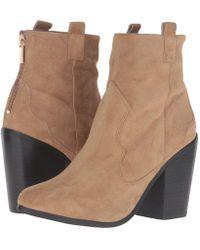 50fdd2b4c8 Lyst - Kendall + Kylie Ella Suede Lace-up Block-heel Booties in Black