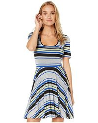 26d5406066 Bebe - Braelyn Fit Flare Dress (metallic Princess) Dress - Lyst