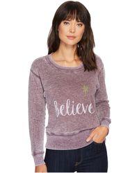 Allen Allen - Believe Sweatshirt - Lyst