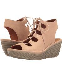 24668038d684 Lyst - Clarks Clarene Glamor Wedge Sandal