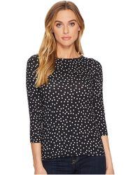 Three Dots - Confetti Dot 3/4 Sleeve Top - Lyst