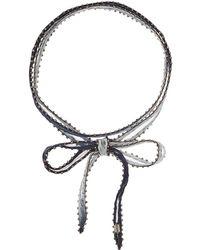 Chan Luu - 42' Viscose Chiffon Dip-dye Necklace Or Bracelet With Beaded Trim - Lyst