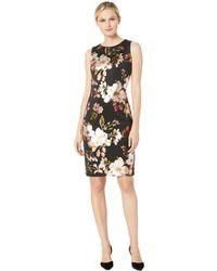 Eci - Foil Printed Sleeveless Dress - Lyst