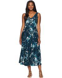 Chaps - Floral-print Jersey Dress - Lyst