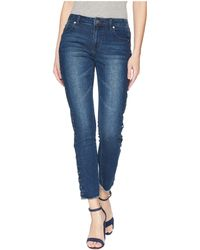 Romeo and Juliet Couture - Grommet Side Detail Denim Pants - Lyst