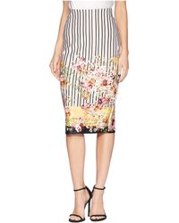 Eci - Print Pinstripe Floral Skirt - Lyst