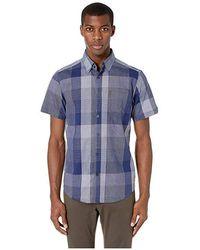 4649449c313e Ben Sherman - Short Sleeve Exploded Check Shirt (blue) Short Sleeve Button  Up -