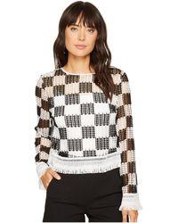 Nicole Miller - Checkerboard Breezy Pullover - Lyst