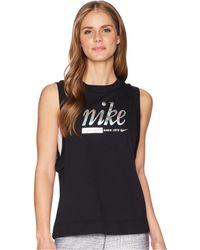 9af2d3cf9d720 Nike - Sportswear Metallic Tank Top - Lyst