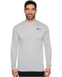 1328a5ae Lyst - Nike Long-sleeve Breathe Quarter Zip Training Top in Gray for Men
