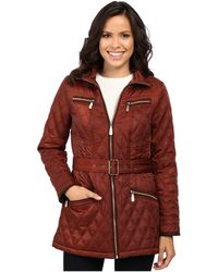 Vince Camuto - Belted Quilted Jacket L8101 - Lyst