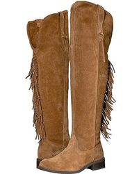 1dc35a62035 Ariat Farrah Fringe Over The Knee Boot in Brown - Lyst