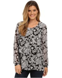 Miraclebody - Delilah Chantilly Lace Print Blouse W/ Body-shaping Inner Shell - Lyst