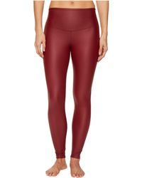 6de9df777fdbb3 Lyst - Yummie By Heather Thomson Tony Faux Leather Leggings in Red