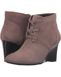 990bbea88e5c Lyst - Pink Pony Tamia Calfskin Wedge Bootie in Black